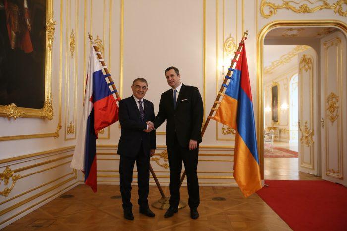 Predseda NR SR Andrej Danko prijal predsedu Národného zhromaždenia Arménskej republiky J. E. Ara Babloyana