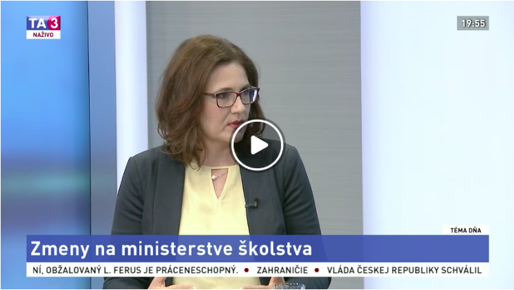 """M. Lubyová na TA3 - Téma dňa """"Zmeny na ministerstve školstva"""""""