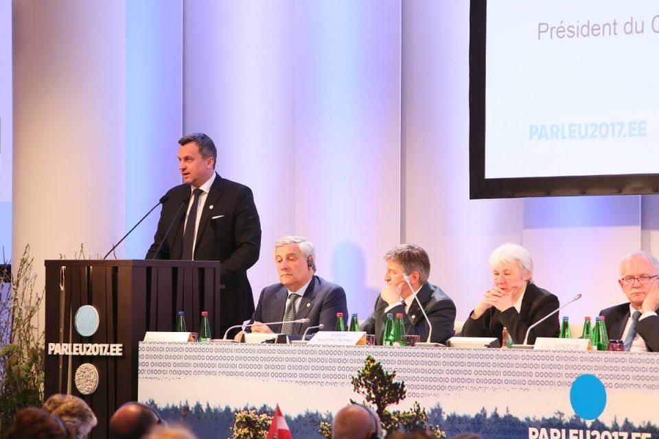 A. Danko - Na rokovaní predsedov parlamentov v Tallinne