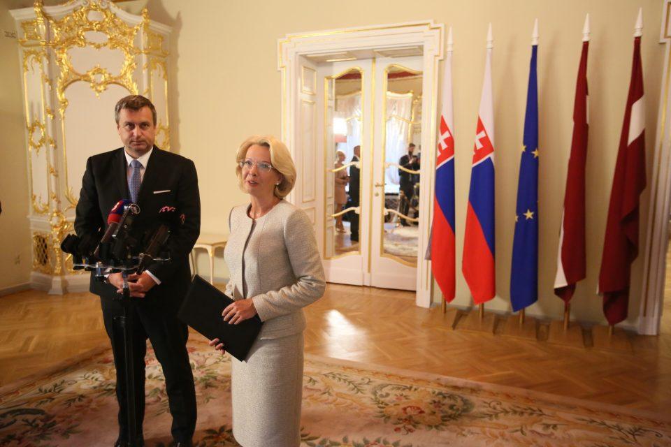 A. Danko - Po rokovaní s lotyšskou predsedníčkou parlamentu