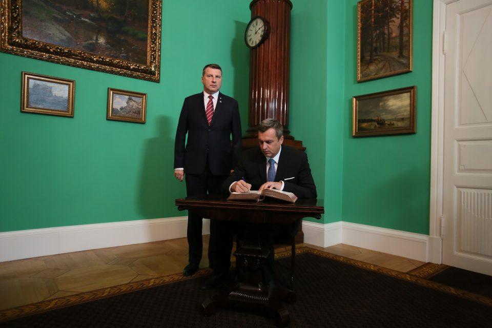 A. Danko - Pietny akt, stretnutie s prezidentom Lotyšskej republiky