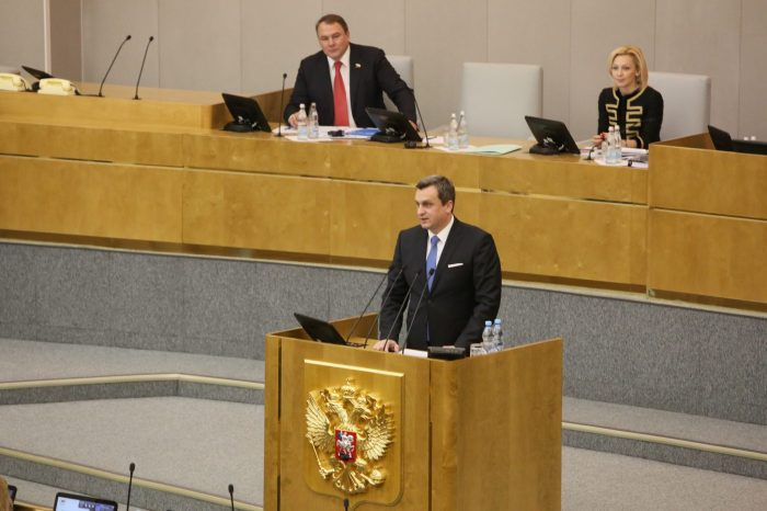 Predseda NR SR a SNS Andrej Danko vystúpi s prejavom v srbskom parlamente