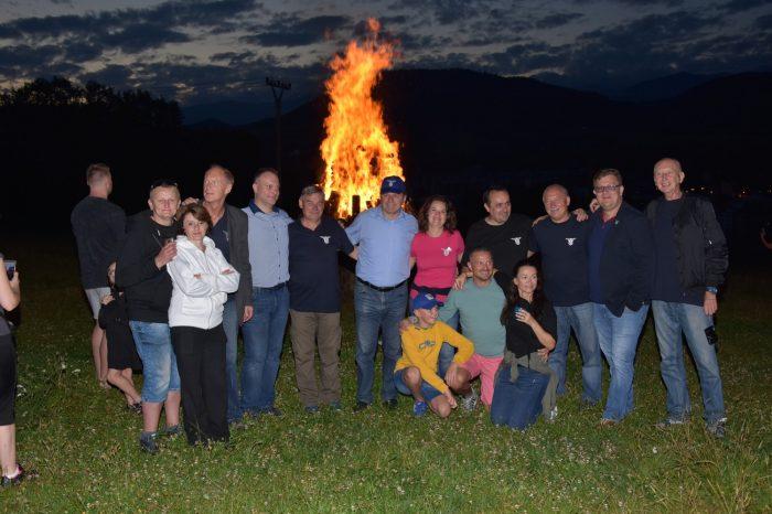 VBrezne sa zapaľovala vatra pri príležitosti 26. Výročia zvrchovanosti Slovenskej republiky