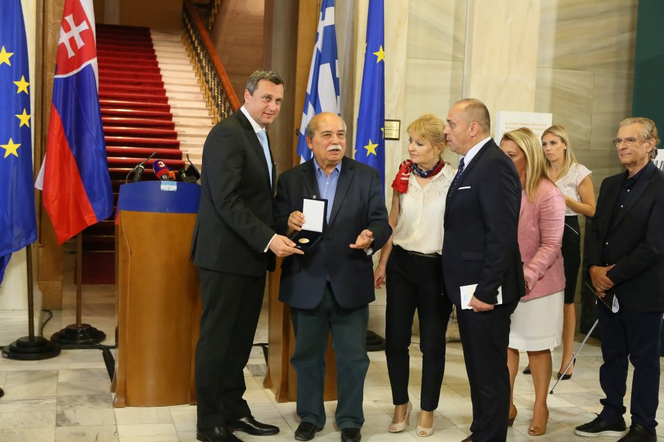 A. Danko - Zlatá medaila od Helénskeho parlamentu