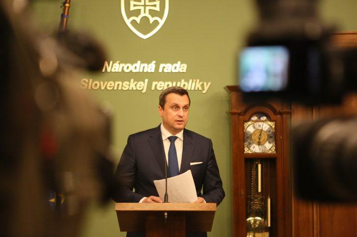 Andrej Danko: Slovenská národná strana podporí otvorenie schôdze NR SR o vyslovení dôvery