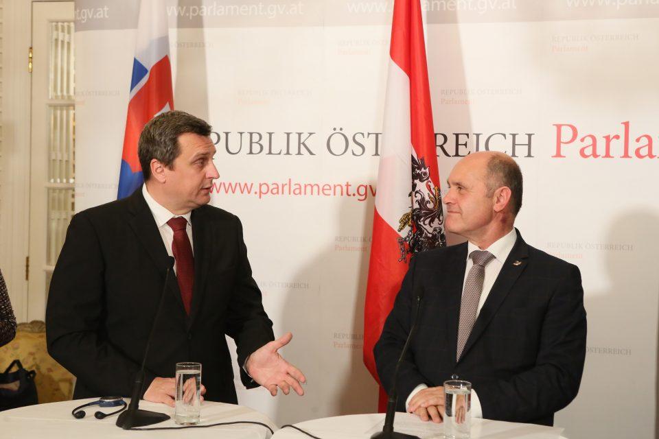 A. Danko - S rakúskym kolegom W. Sobotkom