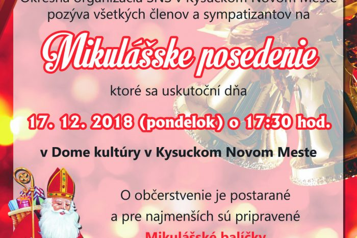 Mikulášske posedenie v Kysuckom Novom Meste