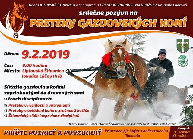 Preteky gazdovských koní v Liptovskej Štiavnici