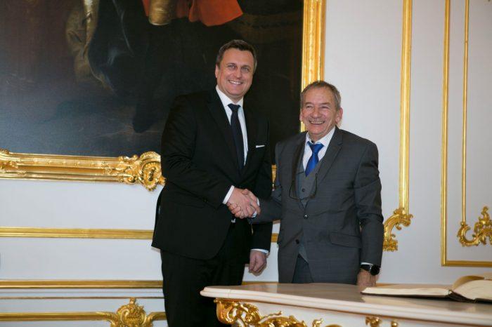 Andrej Danko privítal predsedu Senátu PČR J. Kuberu na jeho prvej oficiálnej návšteve v SR