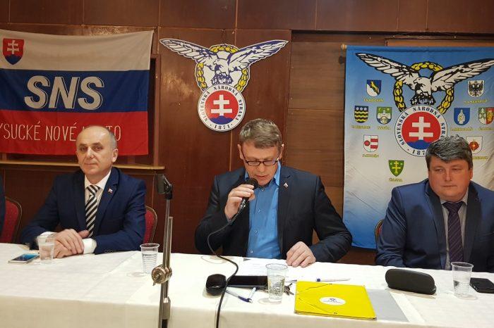 Okresná konferencia SNS v Kysuckom Novom Meste