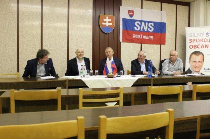 Okresná konferencia SNS v Spišskej Novej Vsi