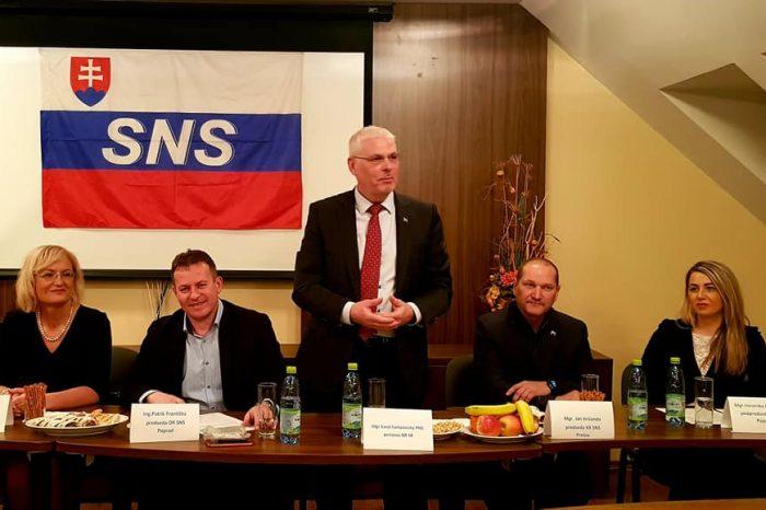 Okresná konferencia SNS Poprad