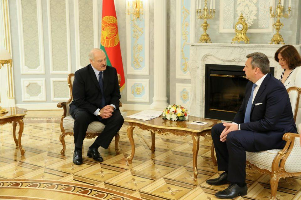 A. Danko - S prezidentom Alexandrom Lukašenkom