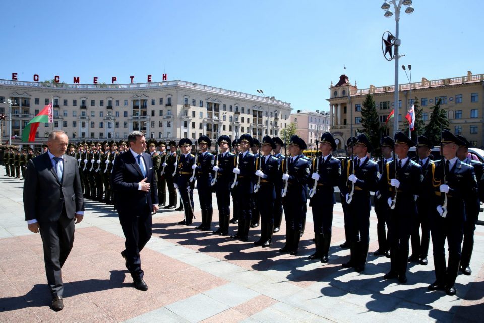 A. Danko - Na Víťaznom námestí v Minsku
