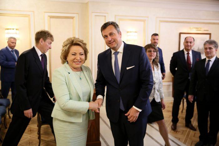 V. Matvijenko: Cením si dobré vzťahy, ktoré sú nastolené medzi NR SR a Radou federácie FZ RF