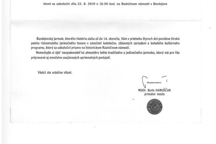 48. ročník novodobého Bardejovského jarmoku