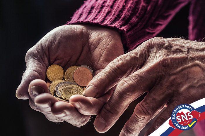 Minimálny dôchodok bude 33% z priemernej mzdy