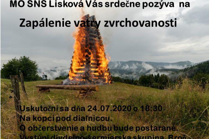 Zapálenie vatry zvrchovanosti