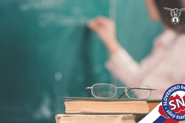 SaS jasne deklaruje, že jej na podpore vzdelávania na Slovensku nezáleží.