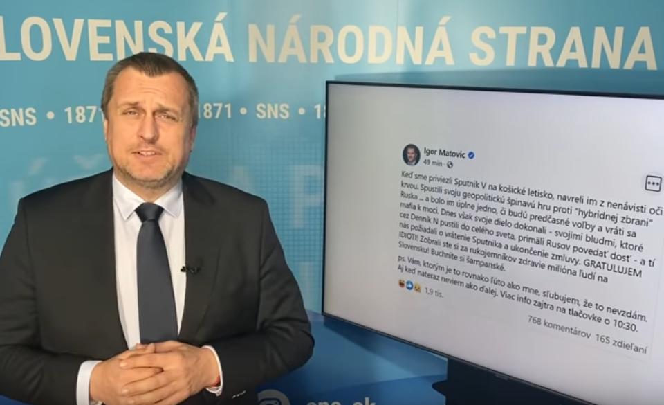 """Andrej Danko """"Matovičovi idioti"""""""